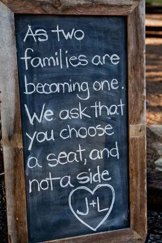 Rustic Wedding Chalkboard