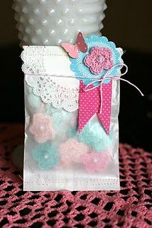 pretty gift party favor bag.