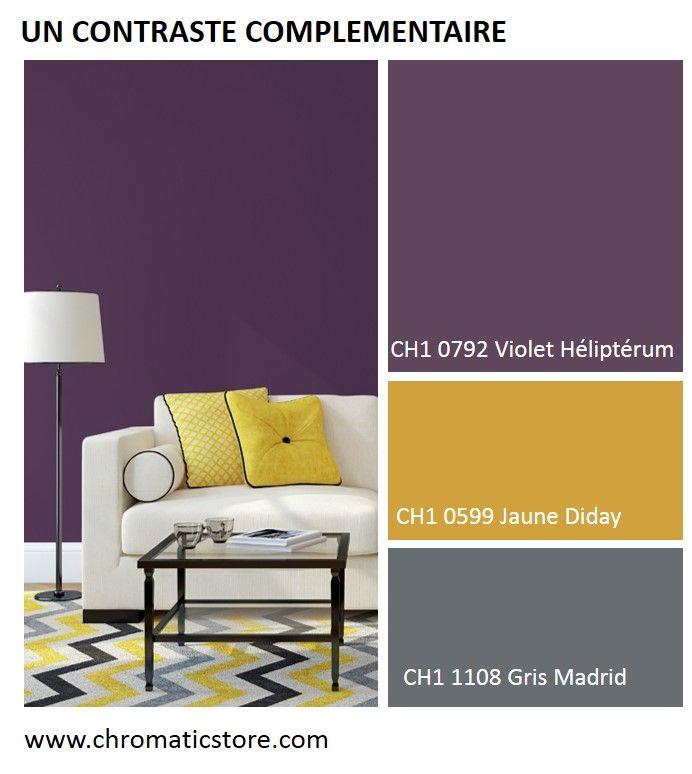 dans ce contraste compl mentaire 2 tons le gris madrid faisant office de couleur de liaison. Black Bedroom Furniture Sets. Home Design Ideas