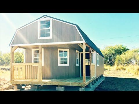Amazing Luxury Shed Cabin For Sale in Texas $50K - YouTube ...