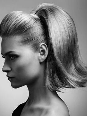 I Love A High Ponytail Vintage Hairstyles 1950s Hairstyles For Long Hair Long Hair Updo