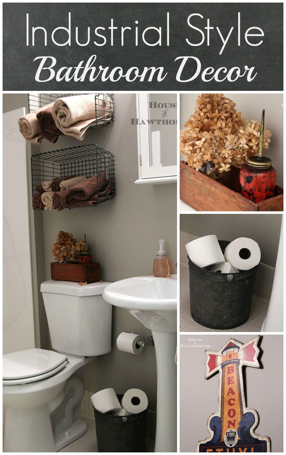 Industrial Bathroom Decorating Ideas industrial style child's bathroom | industrial bathroom, craft
