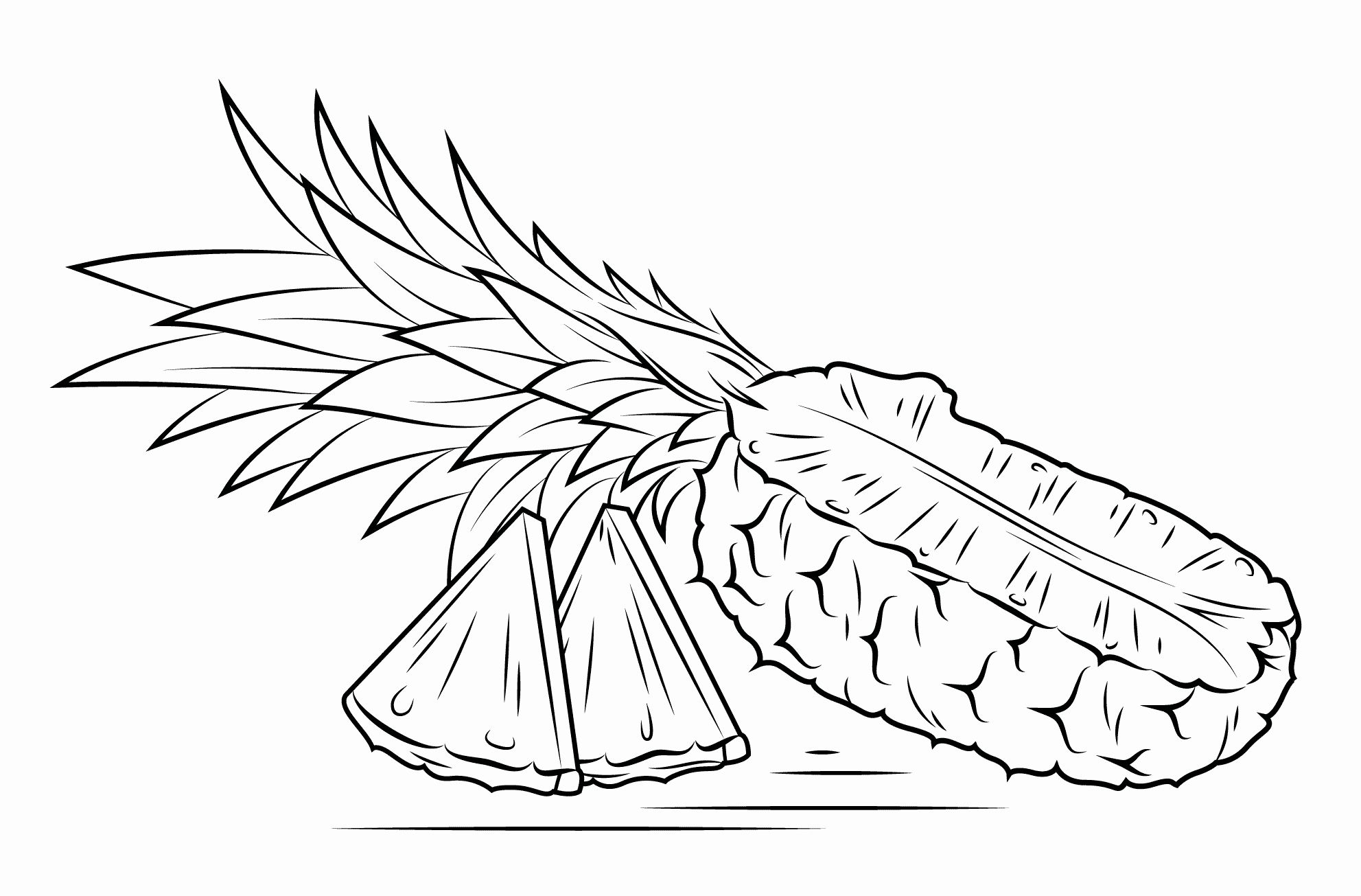 26++ Cute pineapple coloring page ideas