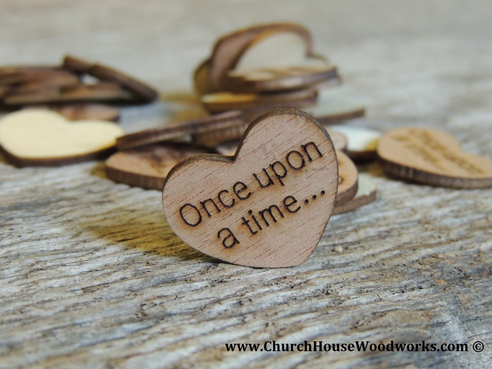 Once Upon A Time Wood Hearts 100 Ct 1 Inch Barn Wedding Centerpieces Rustic Wedding Centerpieces Wooden Hearts