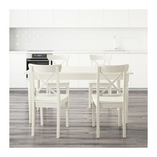 Ingatorpingolf Table And 4 Chairs White 155 Cm  Kitchen Things Pleasing Ikea Dining Room Chairs Sale Review