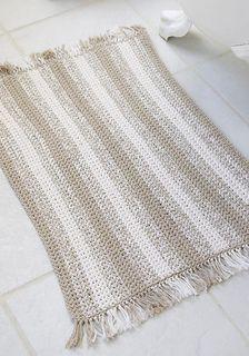 Natural stripes rug... Free pattern!