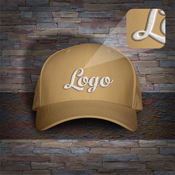 274e88c8859 Free Men s P-Cap  Hat Mockup PSD with Woven Text Logo
