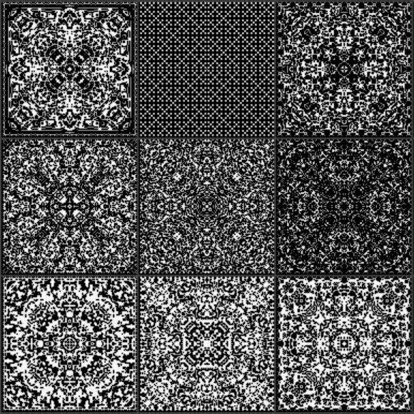 Cellular Automata Fractal Patterns Generative Design Automata