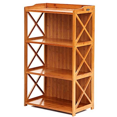 DULPLAY Wooden 3-6 Tier Bookcase,Open Shelf