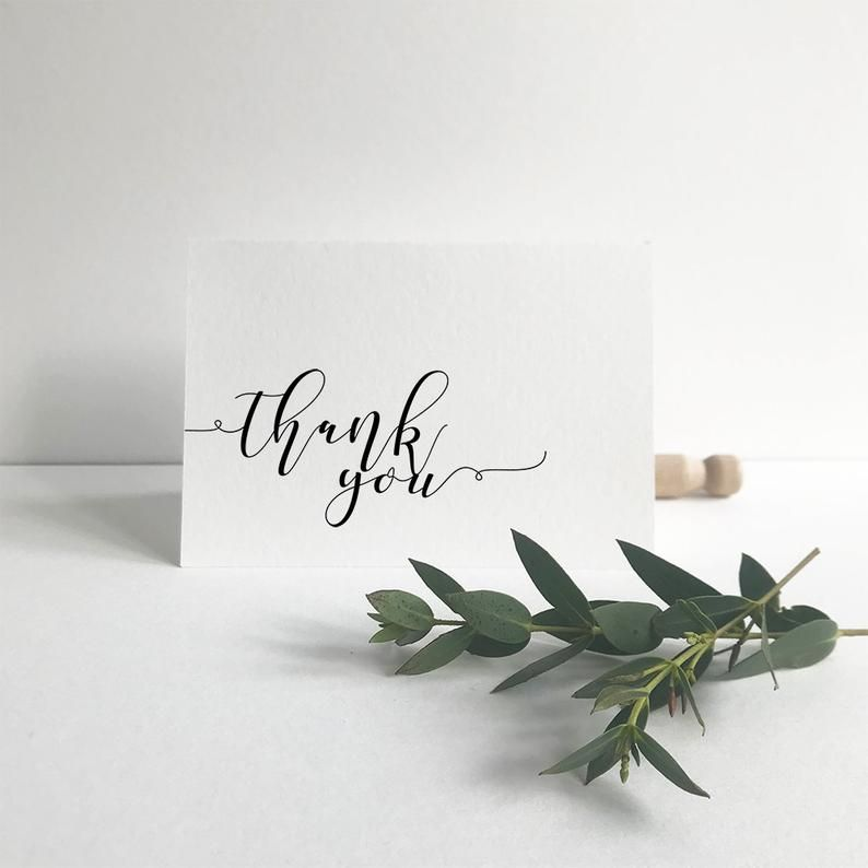 Wedding Thank You Editable Card Template Modern Simplicity Etsy Editable Cards Wedding Thank You Printable Thank You Cards