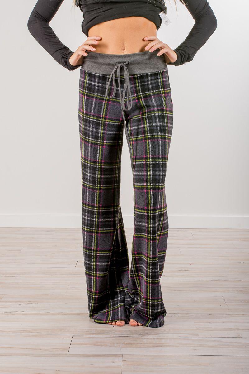 Details about  /Womens Casual Pyjamas Set Plaid Check Sleepwear Pajamas Nightwear Tops Pants
