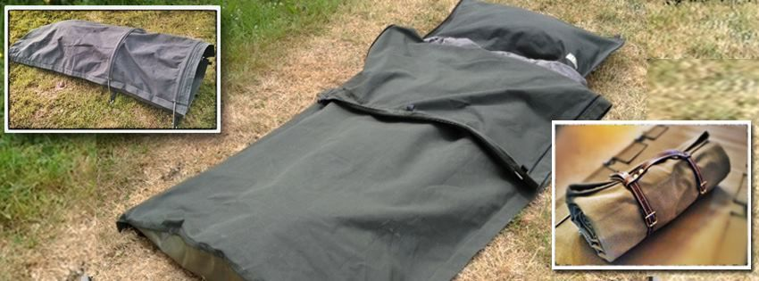 Wynnchester Canvas Bedroll configurations with poles set up (left) as a classic c& bed roll without poles in use (centre) and rolled up with leather bed ... & Canvas Bedroll configurations :with poles (left) as a classic ...