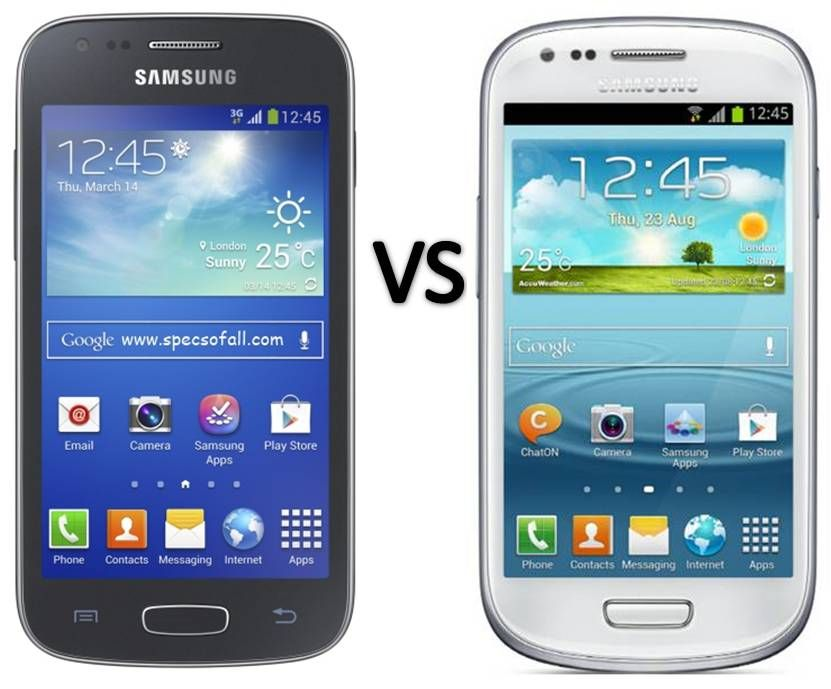 Compare Samsung Galaxy Ace 3 vs Galaxy S3 Mini ...