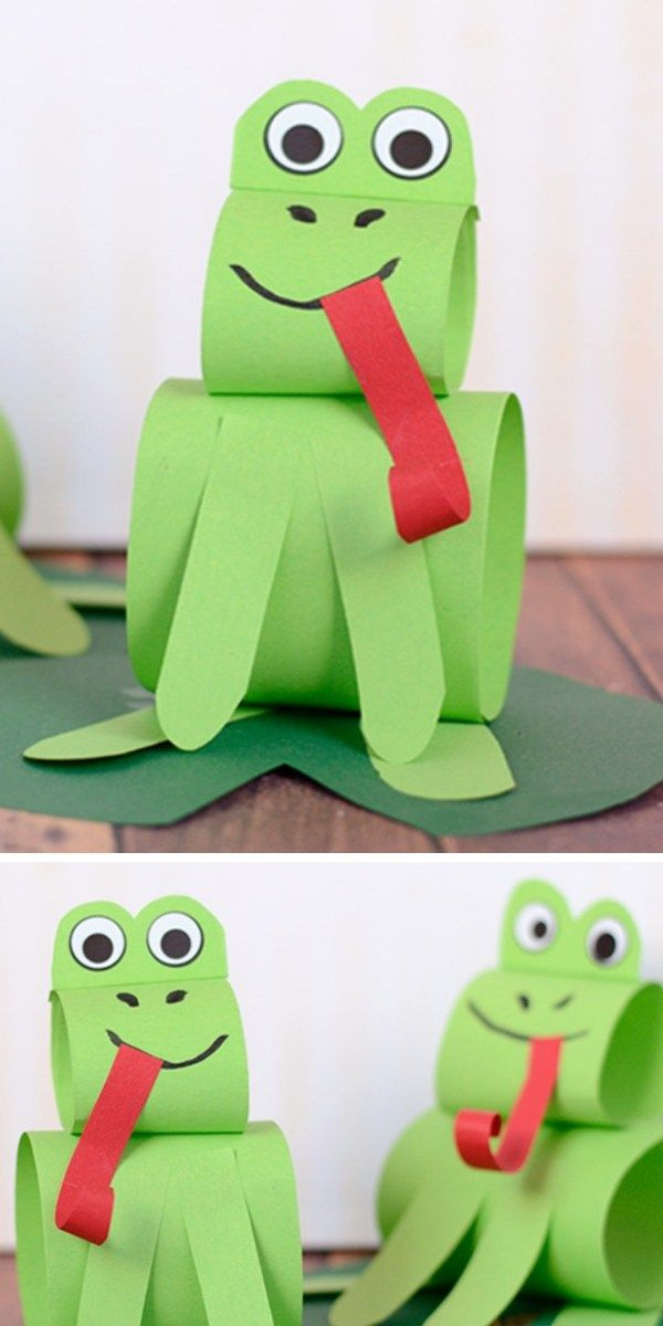 Construction Paper Frog Craft Project