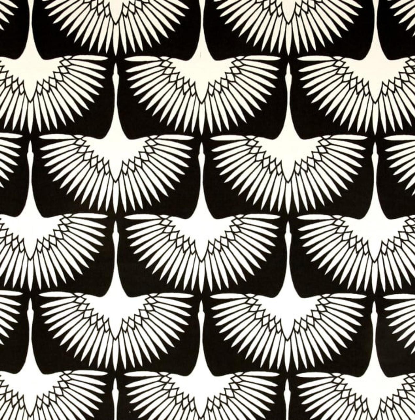 Genevieve Gorder Flock Midnight Outdoor Fabric Crane Outdoor