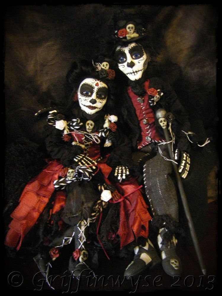 Day Of The Dead Couple By Kimberly Kingsley At Griffinwyse