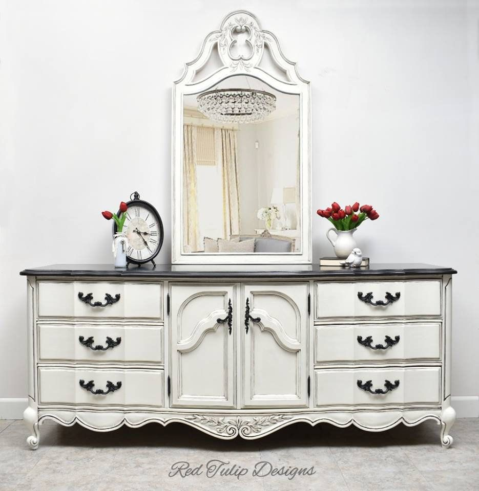 French Provincial 9 Drawer Dresser Buffet Tv Stand Credenza With Mirror American Of Martinsville By Redtulipdesigns On Etsy