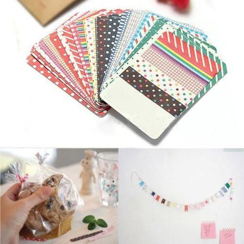 Photo of 27Pcs DIY Scrapbook Pack Decorative Labeling Masking Tape Craft Stickers Set – one size / as the picture d