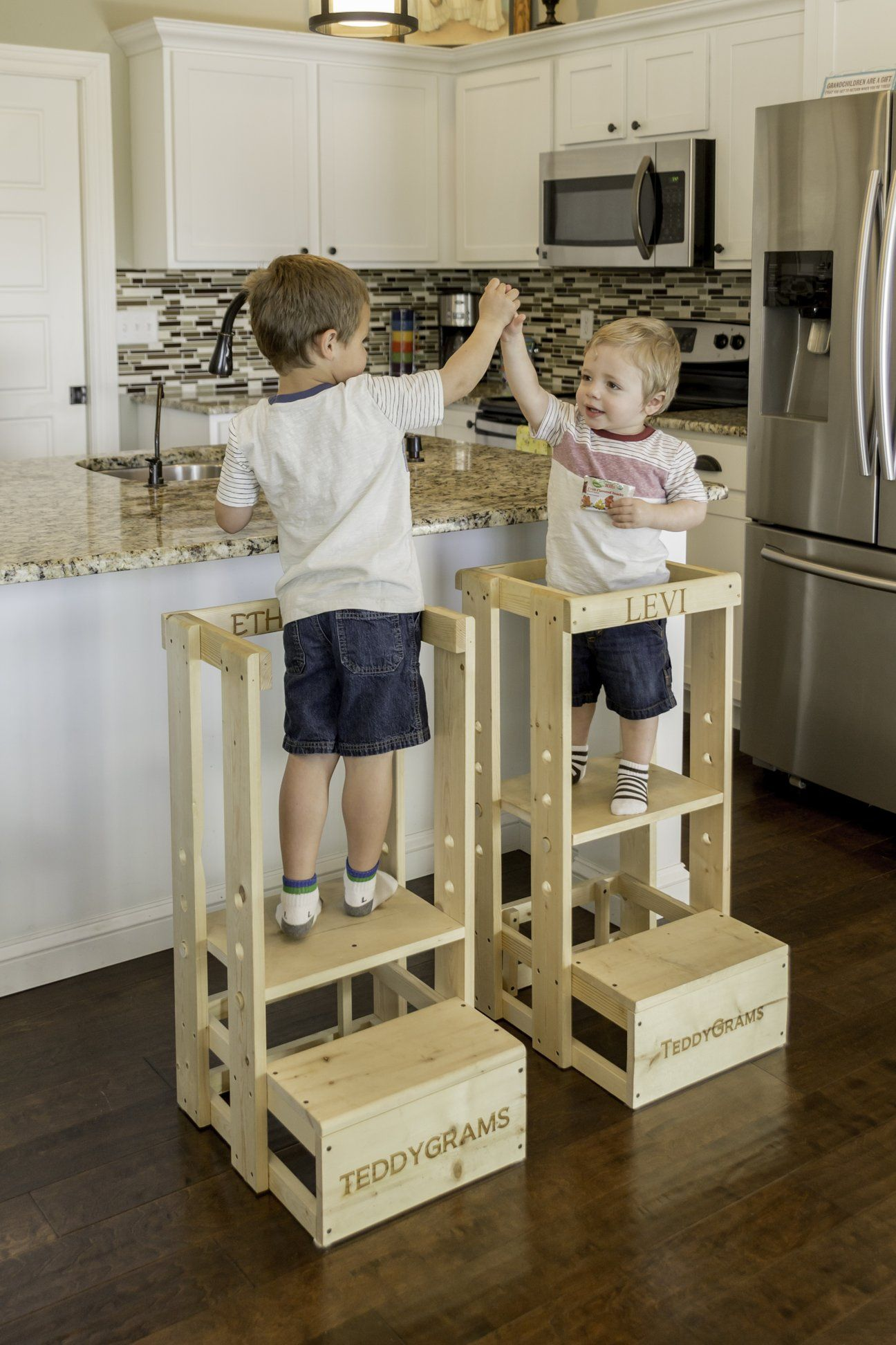 Tot Tower Safe Step Stool Mommy S Helper Learning Center Toddler Safety Stool Kitchen Step Stool Tkp Toddler Step Stool Kitchen Stools Diy Kids Kitchen