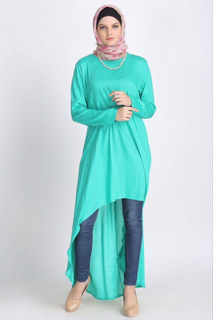 Fishtail Tunic Cyan Islamic Clothing Abayas Modest Muslim