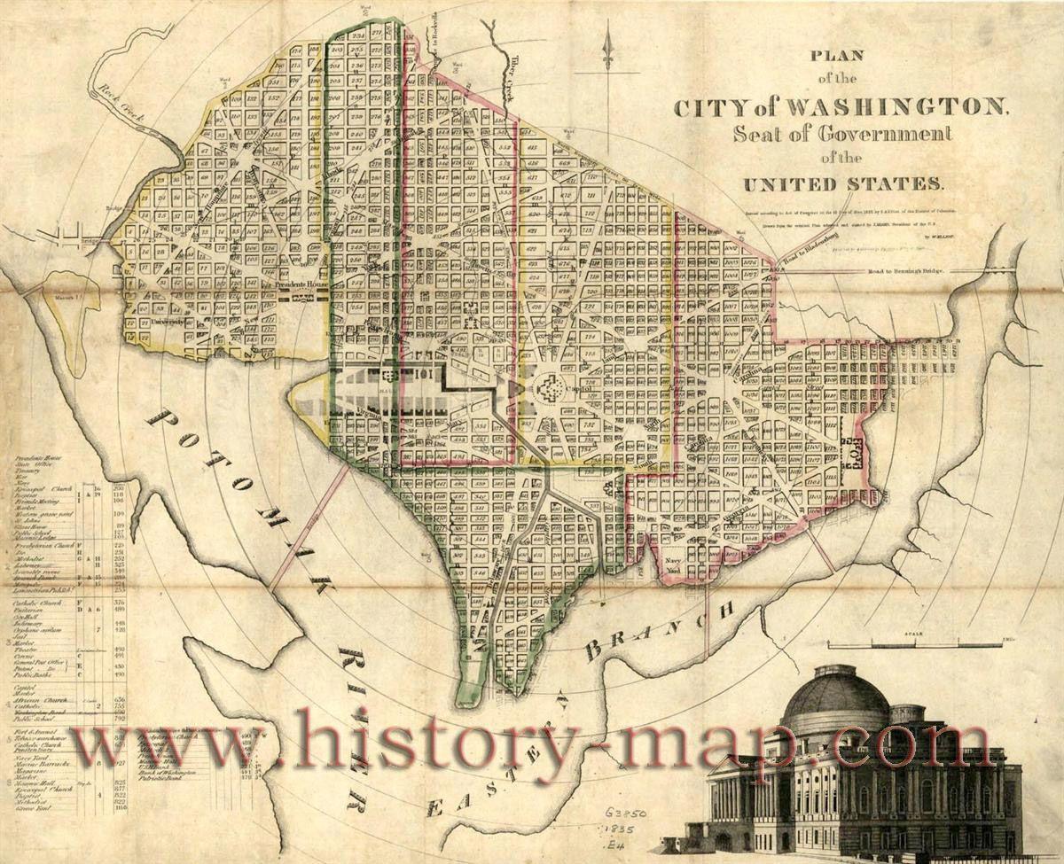 1855 dc map | DC Maps | Washington dc map, Washington map, Map