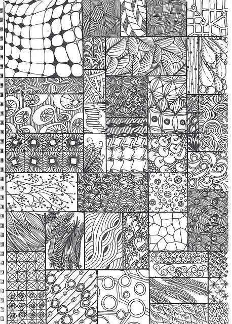 Zentangle... I'm really interested in this repetitive doodling.  It's changing how I deal with meetings.  Check out Zentangle.com and also the pinner Gilly Haigh for many examples.