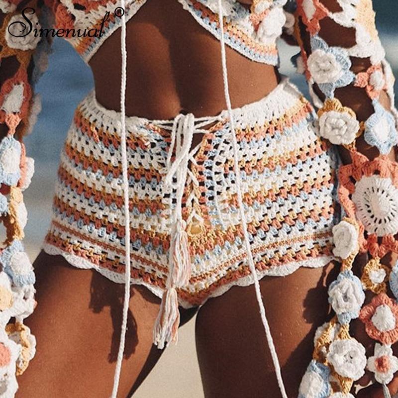 Crochet Lace,beach wear,festival top crochet handmade Handmade Crochet beach shorts and top Lace Shorts Crochet shorts summer shorts