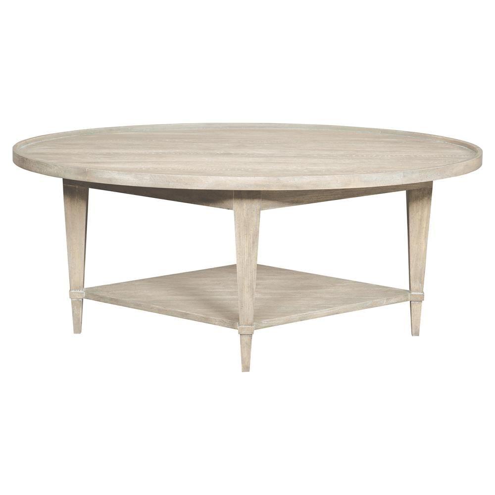 Faine Coastal Rustic White Cedar Oval Coffee Table Coffee Table Modern Classic Furniture Furniture