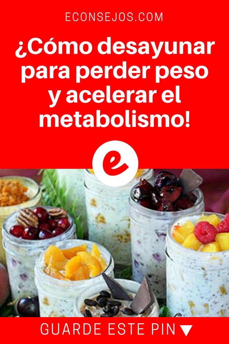 desayuno para perdida de peso