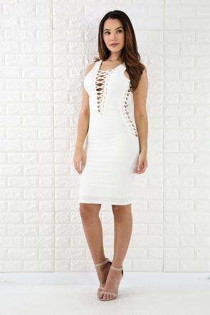 lattice corset mini dress  corset mini dress swirl dress