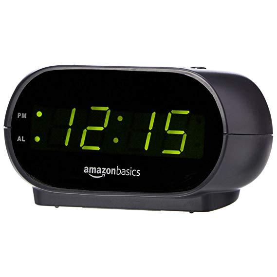 Amazon Com Amazonbasics Small Digital Alarm Clock With Nightlight
