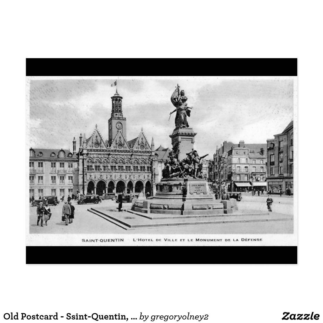 Old Postcard SsintQuentin, Aisne Zazzle.co.uk in 2020