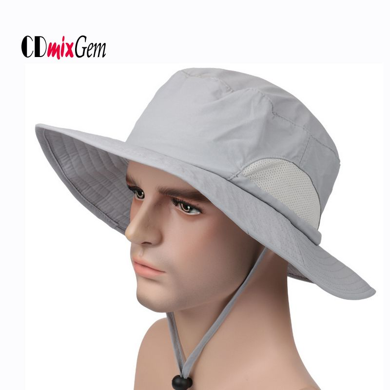 Fishing Hiking Boonie Hats Sun UV Protection Neck Flap Hat Wide Brim Fisher Caps