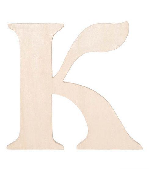 K fancy wood letter Wood letters, Lettering, Online