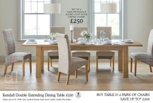 Buy Kendall 610 Seater Double Extending Dining Table From The Impressive Kendall Dining Room Decorating Design