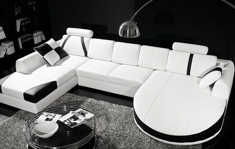 Best Ultra Contemporary Leather Sectional Sofa With Curved 400 x 300