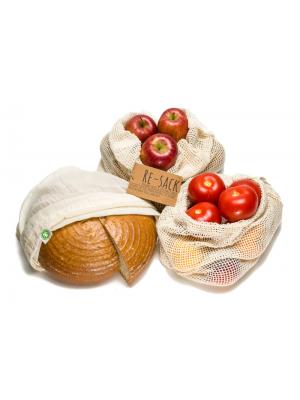 Wiederverwendbare Obst Gemuse Und Brotbeutel In 2020 Brotbeutel Lebensmittel Obst Und Gemuse