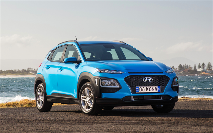 download wallpapers hyundai kona 4k crossovers 2018 cars new