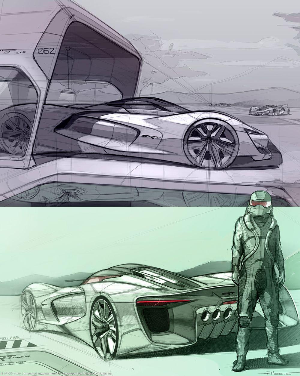 2035 SRT Tomahawk Vision Gran Turismo—Official Photos Schiță