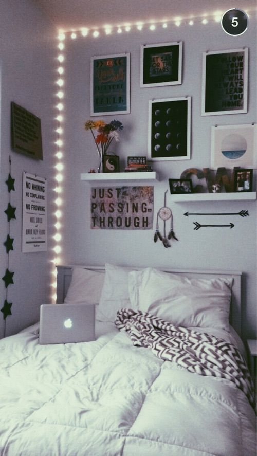 Black Cool Cute Decorated Inspiration Inspo Nice Pretty Room Decor Tumblr White