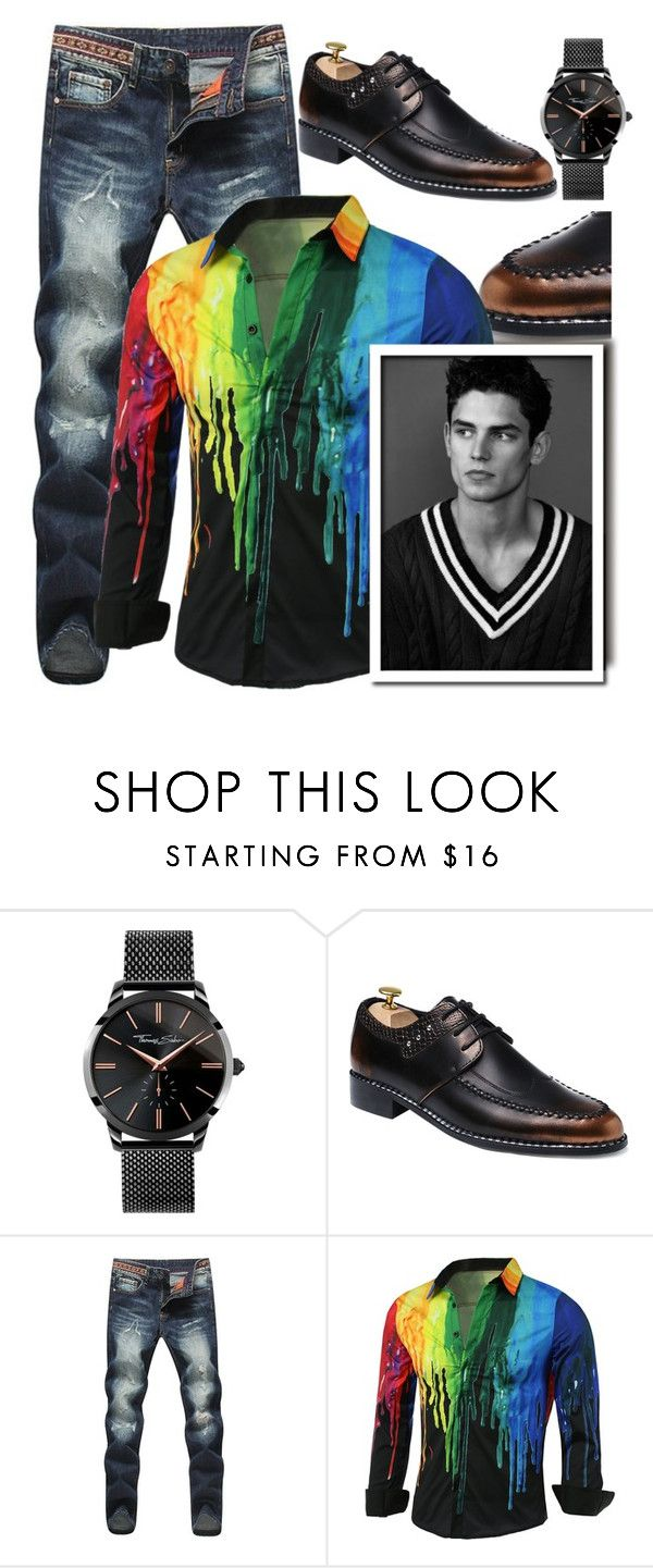 """Smoove casual"" by carleen1978 on Polyvore featuring Thomas Sabo, men's fashion and menswear"
