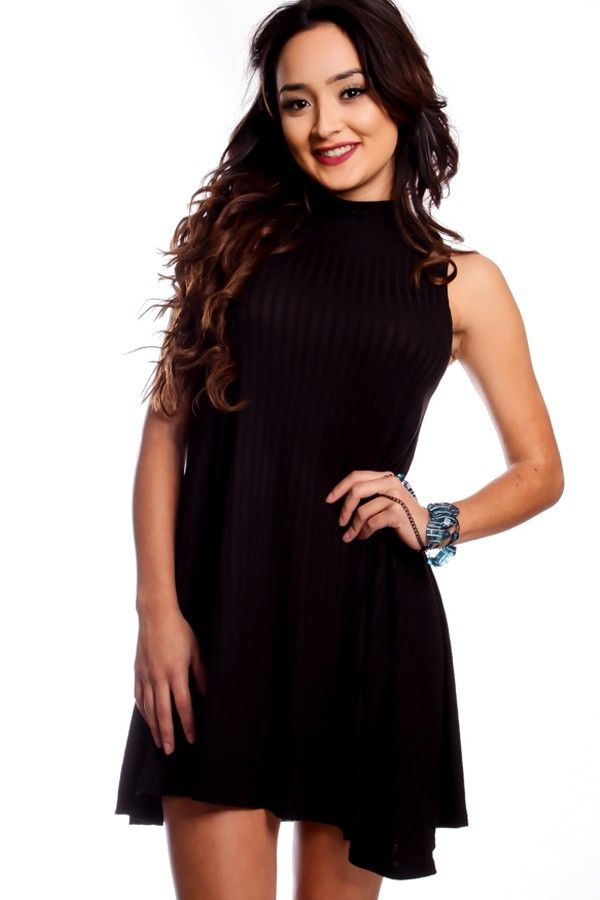 Casual Black Flowy Dress