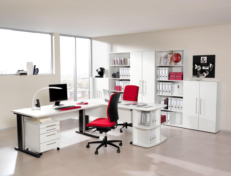 Büromöbel PABLO Fronten in Dekor Weiß von Schäfer Shop | WorkSpace ...