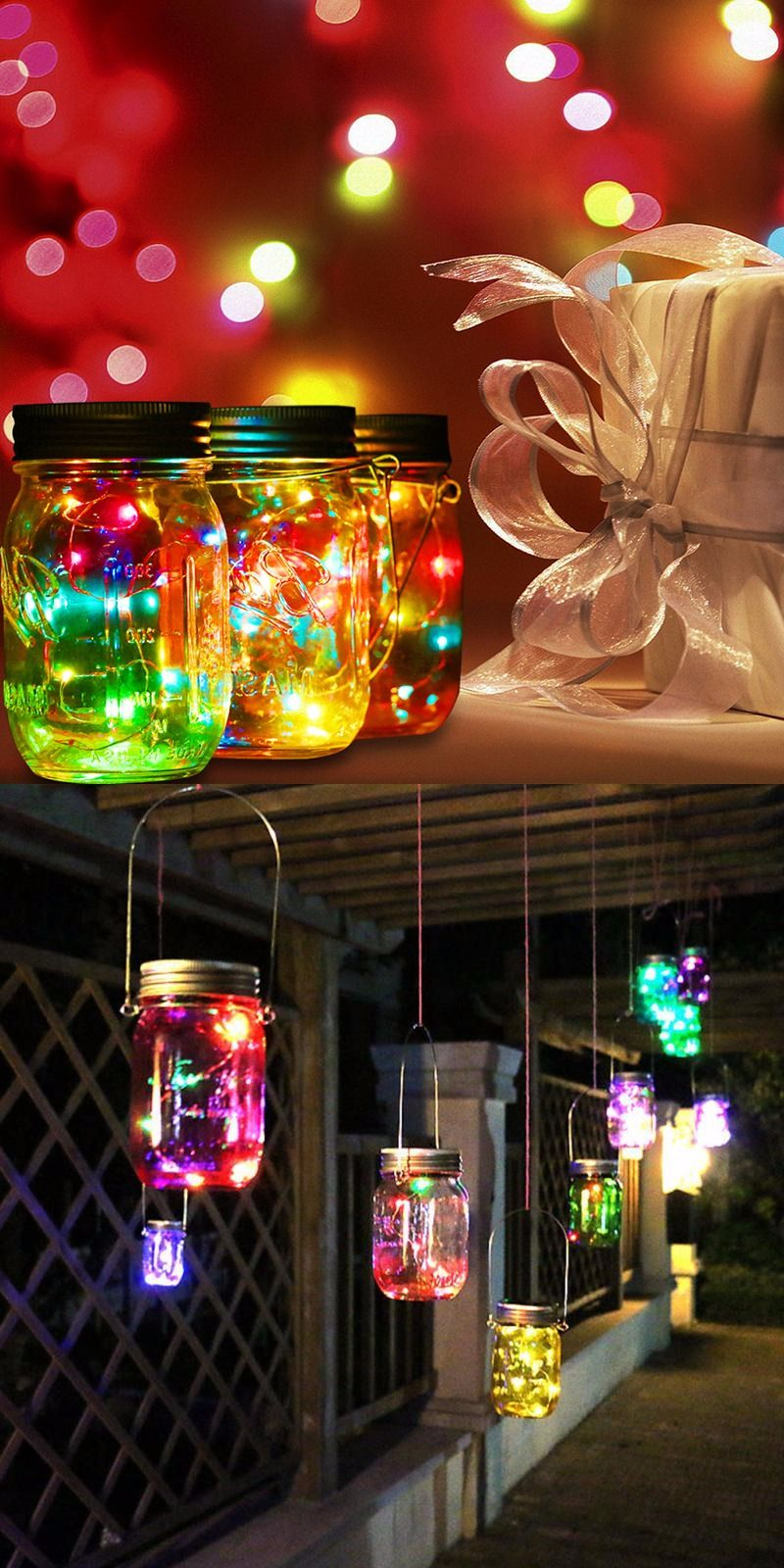 30 Christmas Lights Decoration With Mason Jars Magment Decorating With Christmas Lights Colored Christmas Lights Christmas Jars