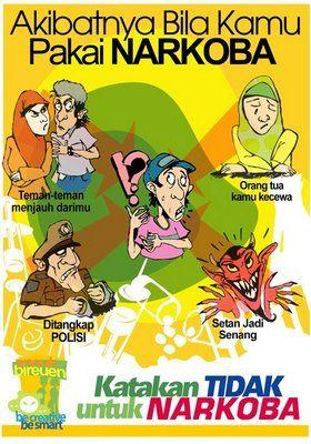 Contoh Poster Narkoba Paling Menarik Poster Ilustrasi Dan