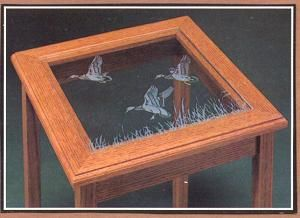 Etched Gl Wildlife Art Etching Table Top