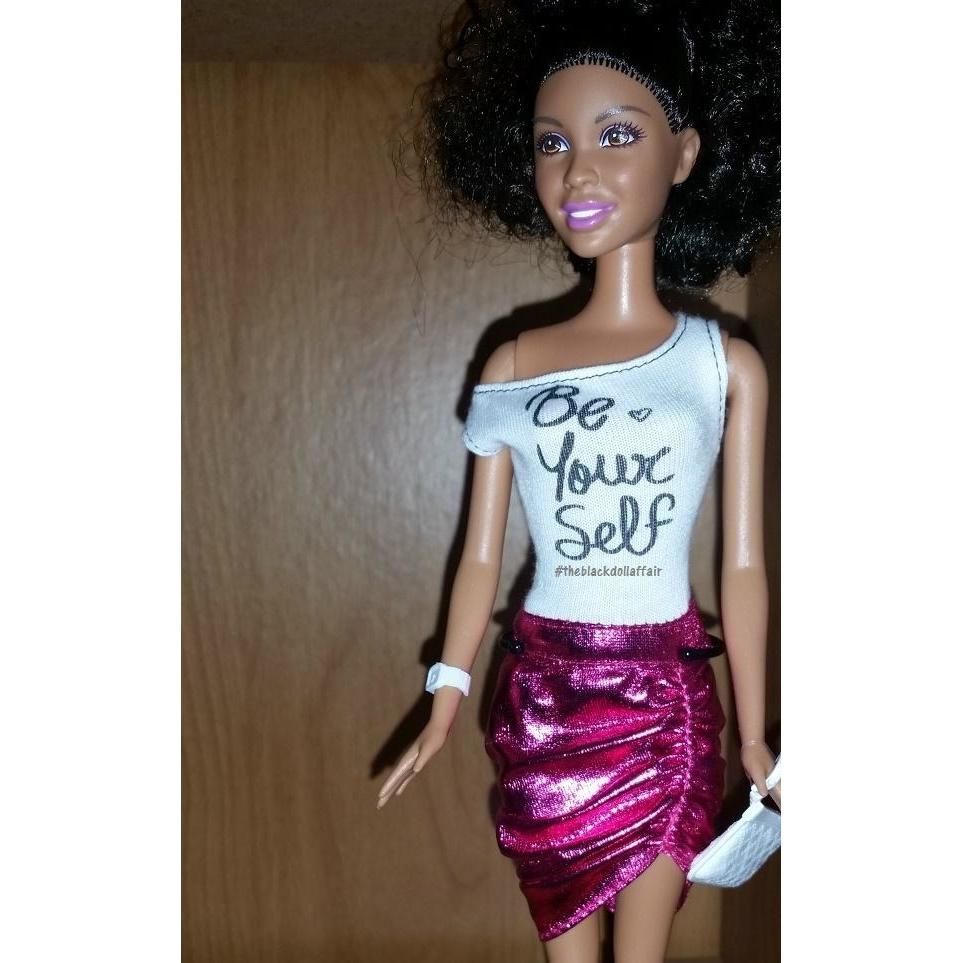Barbie doll with be yourself tee carleigh and phoenix pinterest