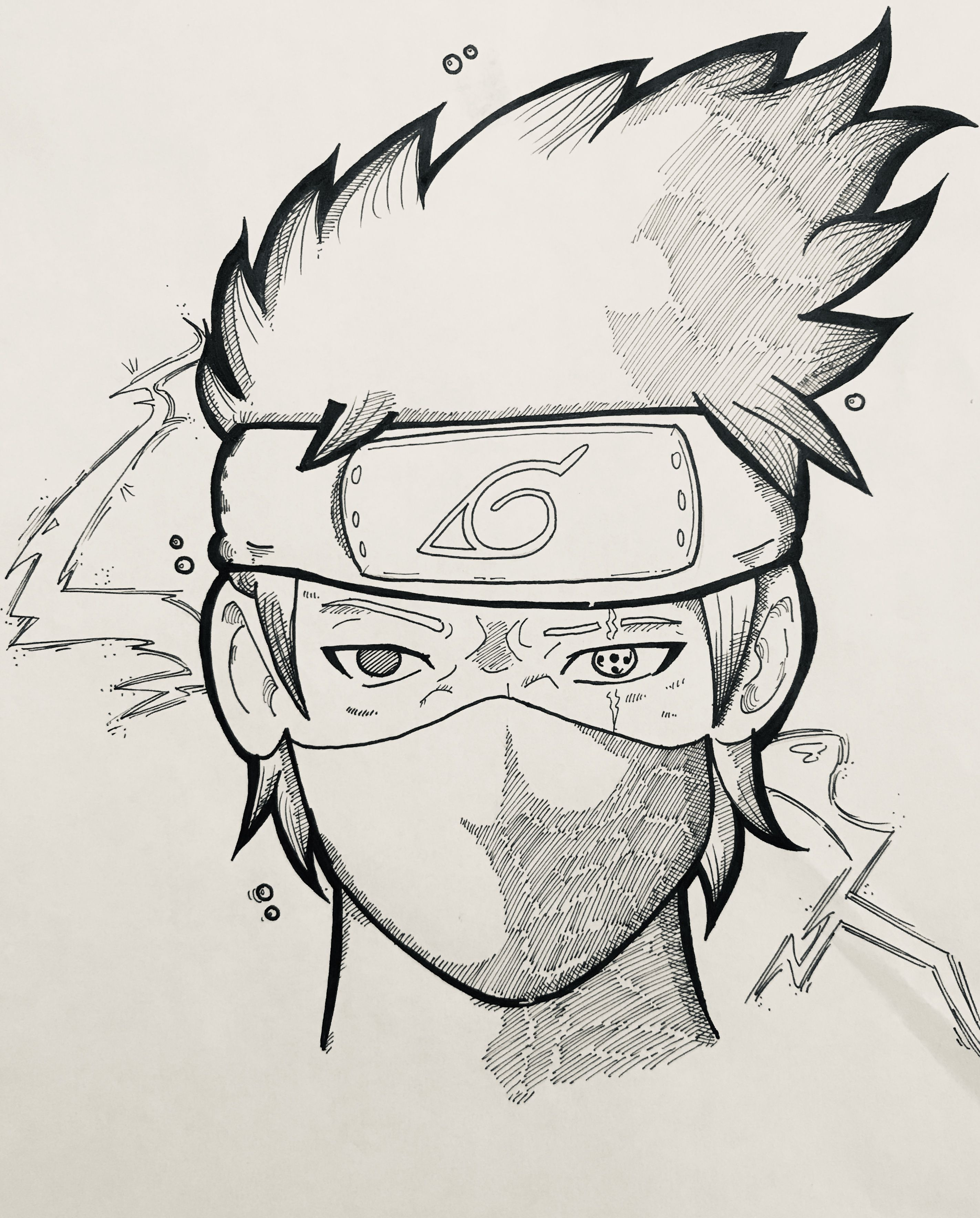 Ashley Celestin Kakashi Sketch Kakashi Drawing Kakashi Hatake