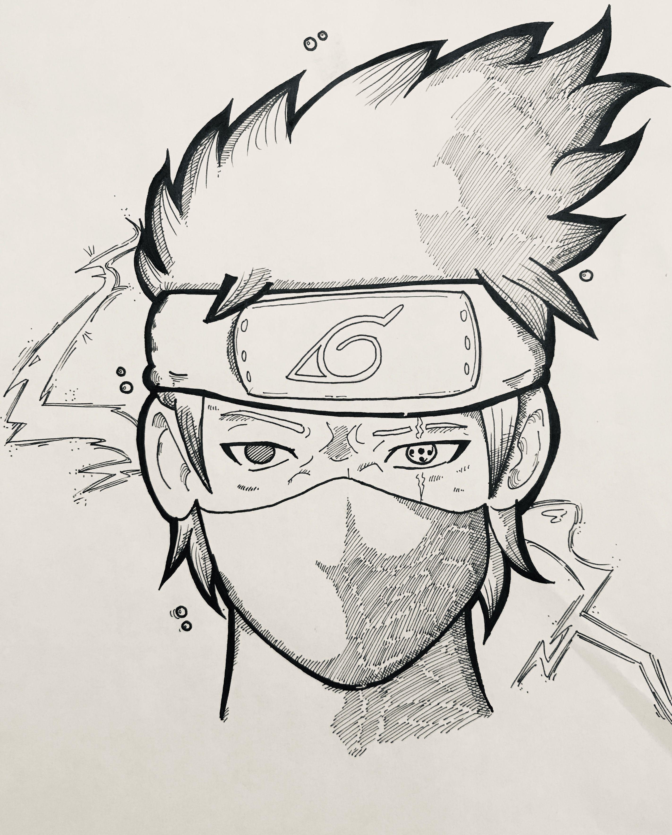 Kakashi Hatake Drawing : kakashi, hatake, drawing, Ashley, Celestin, Kakashi, Sketch, Drawing,, Naruto, Drawings,, Hatake
