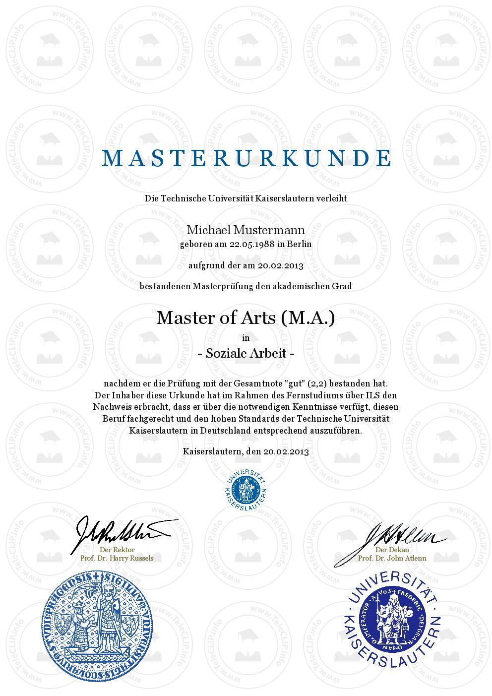 Master Urkunde kaufen-, Master in Business Administration (MBA ...
